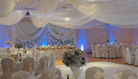 draping and lighting for wedding ivory draping with blue lighting and cloth misc