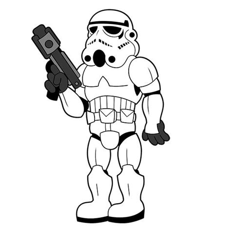Rey And Bb8 Wallpaper Stormtrooper Coloring Pages Clipart Best