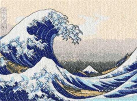 advanced embroidery designs great wave  kanagawa