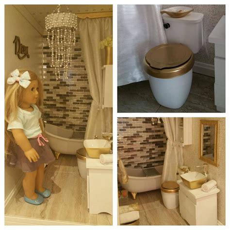 Diy American Girl Doll Toilet Youtube
