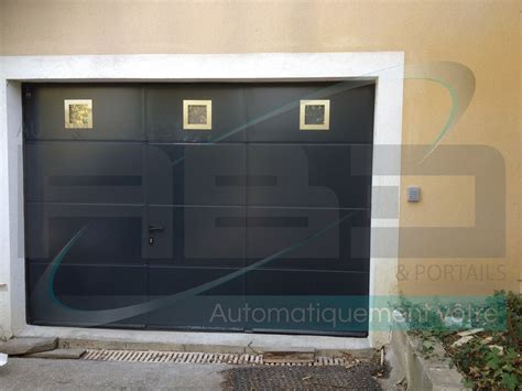 porte de garage sectionnelle sur mesure avec portillon int 201 gr 201 hormann a b d automatismes