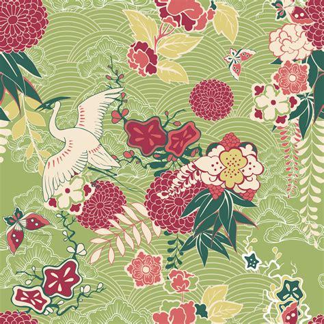 oriental silk pattern   vector art stock