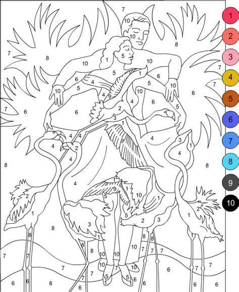 color by number adults s free coloring pages color by number for adults