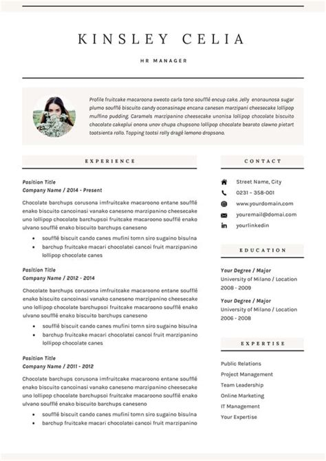 incredible cv templates   job type career