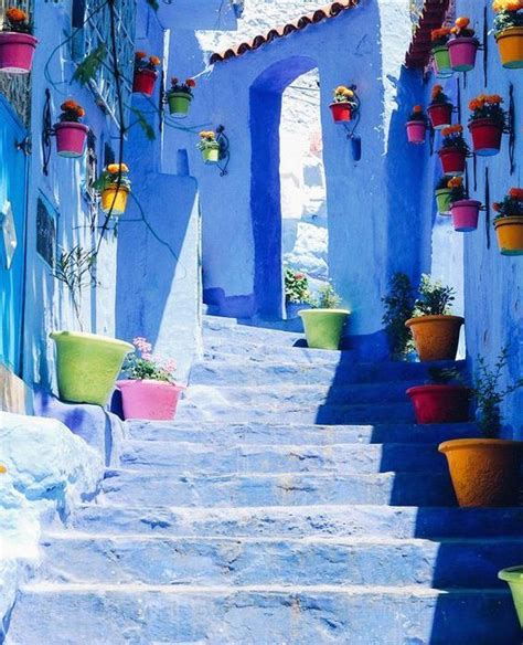 Chefchaouen, Colorful places, Morocco travel