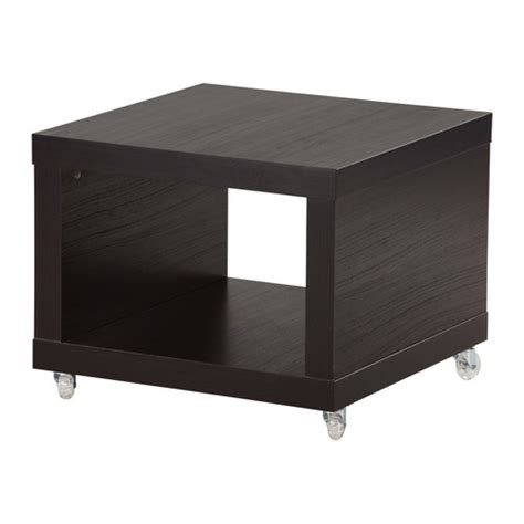 table with wheels ikea lack side table on casters black brown ikea