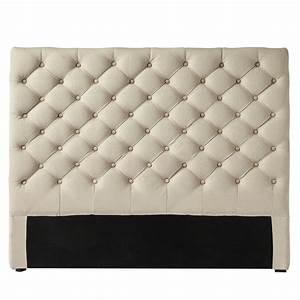 Lit 120x190 Alinea : tete de lit capitonn e en cuir blanc du design une faire ~ Voncanada.com Idées de Décoration