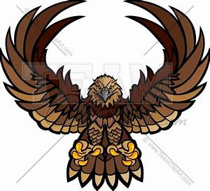 Hawk Wings and Claws Mascot Vector Clipart Image - Team ...