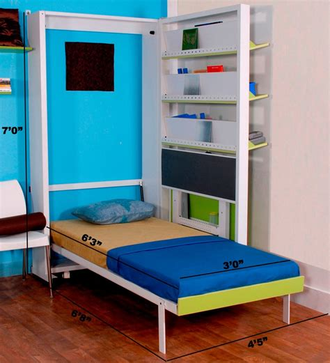buy spaceone space saving single bed cum study table