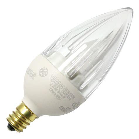 ge 65542 led2cac io 830 f candle led light bulb