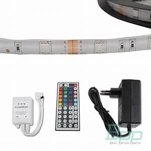 Led Strip Leiste : 5m rgb 5050 smd led leiste schlauch strip streifen lichtkette 44 keys netzteil ebay ~ Watch28wear.com Haus und Dekorationen