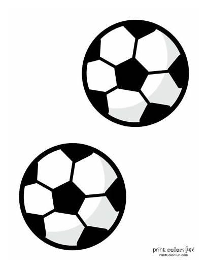 Soccer Ball Coloring Printables Pages Fun Medium