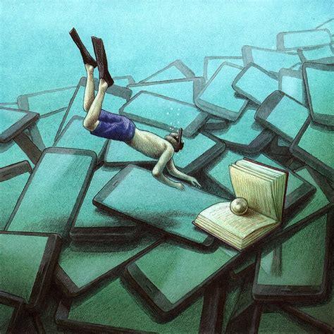 ilustraciones satiricas sobre los problemas de la