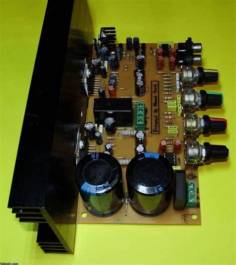 Tda Stereo Amplifier Circuit Controlled Loudspeaker