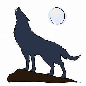 How To Draw A Wolf Howling At The Moon - ClipArt Best
