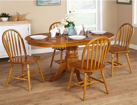 farm table dining set country kitchen farmhouse 5 piece oak dining room set ebay