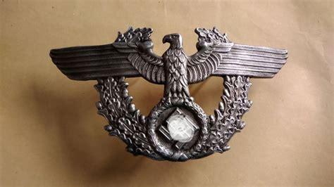 duitsland militaire politie helm hoed insigne catawiki