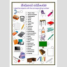9 Best Classroom Objects Esl English Worksheets Images On Pinterest  Teaching English