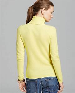 Bloomingdales Size Chart C By Bloomingdale 39 S Cashmere Turtleneck In Lemon Yellow