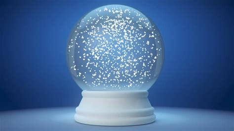 Animated Snow Globe Wallpaper - snow globe snowflake with snowfall on blue