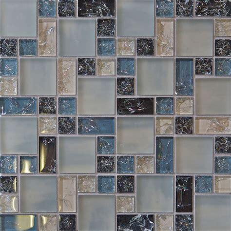 sle blue crackle glass mosaic tile kitchen backsplash