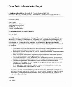 Cover Letters Administrative Assistant Free 6 Sample Administrative Assistant Cover Letter