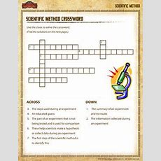Scientific Method Crossword  Science Resources  School Of Dragons