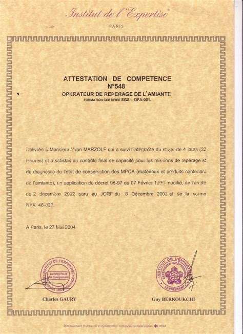 modèle attestation de formation professionnelle modele attestation competences professionnelles document
