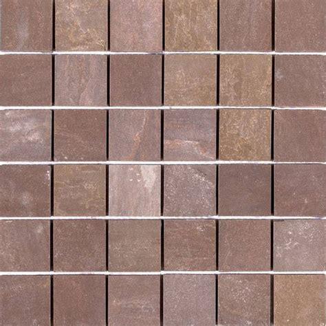 Bati Orient Tile by Bati Orient Mosaic 2 X 2 Brown Matte Quartzite