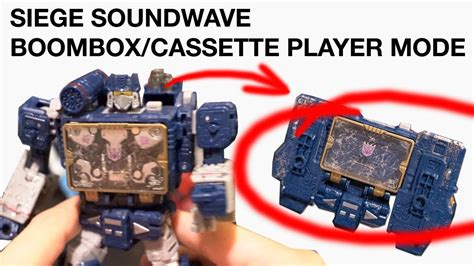 siege soundwave boombox cassette player tutorial youtube