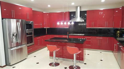 Modern Style Red Kitchen Remodel-remodeling In San Diego