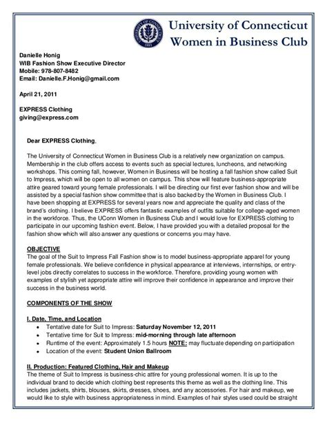 sample business proposal letters proposal template