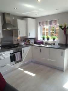 gloss kitchen ideas pink accents grey and cabinets on