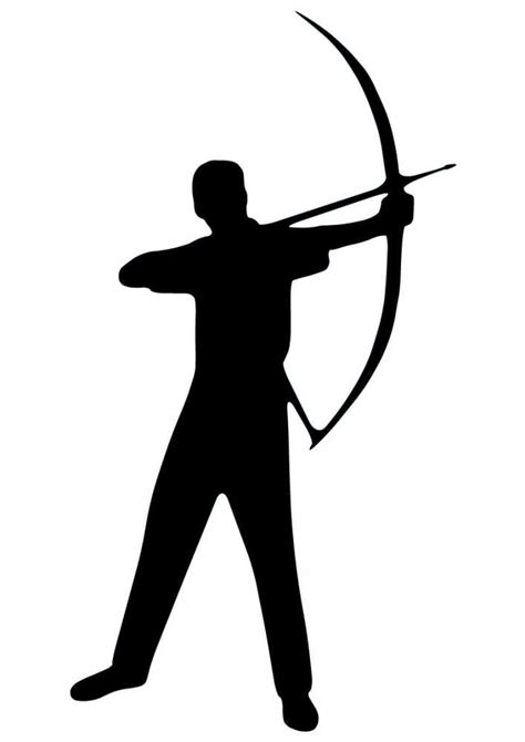 Bow And Arrow Silhouette at GetDrawings | Free download
