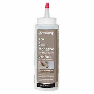 Armstrong 8 oz floor seam adhesive 00761123 the home depot for How to seal vinyl flooring seams