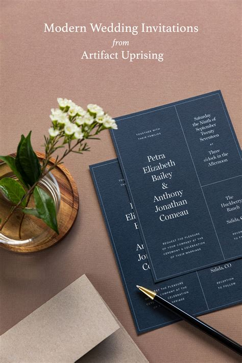 Modern + Luxe Wedding Invitations from Artifact Uprising