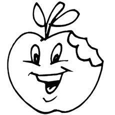 Basteln Für Fenster Drachen by Obst Und Gem 252 Se Kostenlose Malvorlage Apfel Mit Lustigem