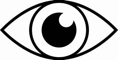 Eye Clipart Line Simple Eyes Eyeball Drawing
