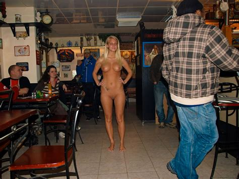 Only One Naked In A Bar Nudeshots