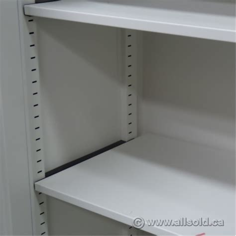 White Metal Storage Shelves by Teknion White Metal 2 Door Storage Cabinet Adjustable