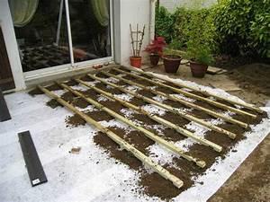 Pose Terrasse Bois Sur Terre : comment poser une terrasse composite sur lambourdes et ~ Melissatoandfro.com Idées de Décoration