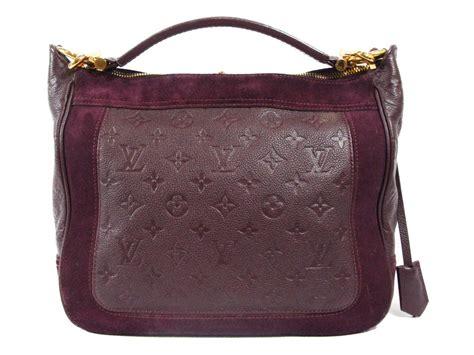 louis vuitton auth empriente suede audacieuse mm shoulder hand bag aube   purple lyst