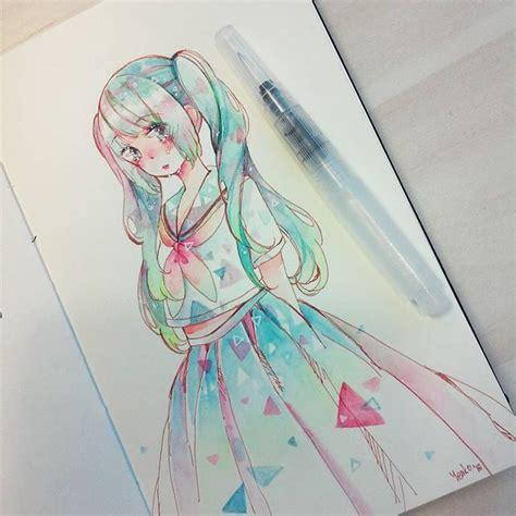 watercolor anime blob blob inspiration anime