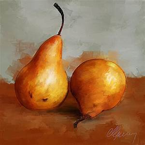 Pears Still Life Painting by Michael Greenaway