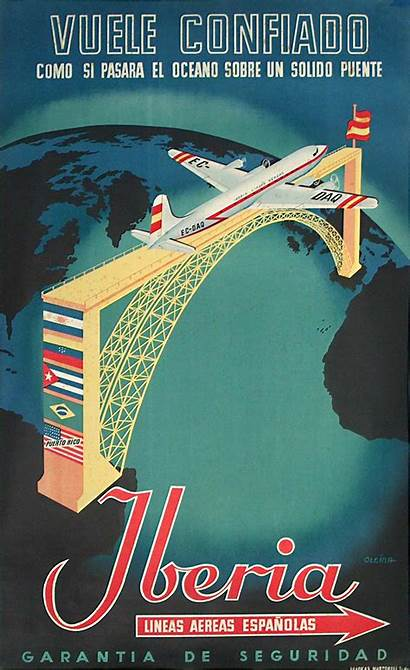 Posters Poster Airline Iberia Travel Posterteam Airlines