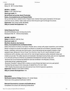 usajobs resume template resume format download pdf With how to download resume from usajobs