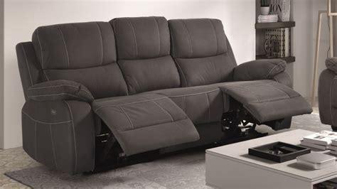 canap relax design canapé de relaxation 3 places moderne en tissu
