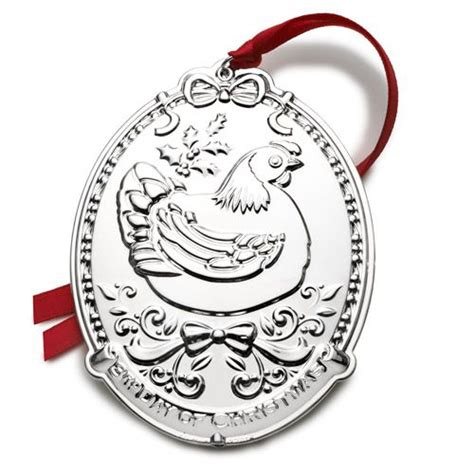 2014 twelve days of christmas silver ornament towle