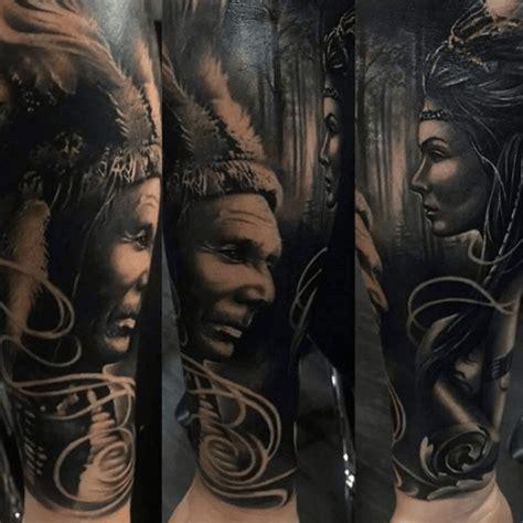 tatouage indien lamerique sur la peau tattoome le