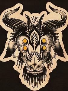 goat head tattoo ideas   Goats Head Tattoo   Tattoo Flash ...